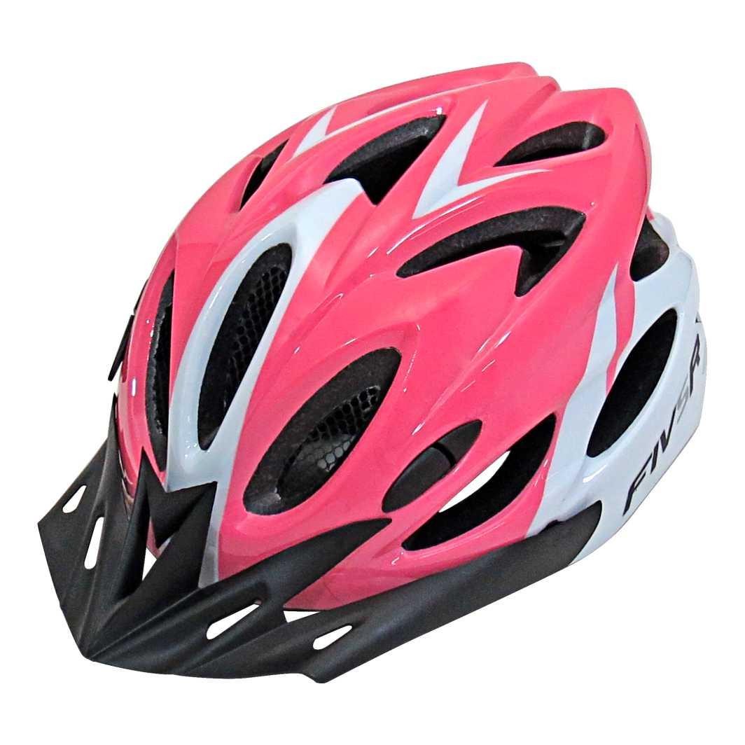 Capacete P/Ciclista FIVR V Rosa/Branco Led