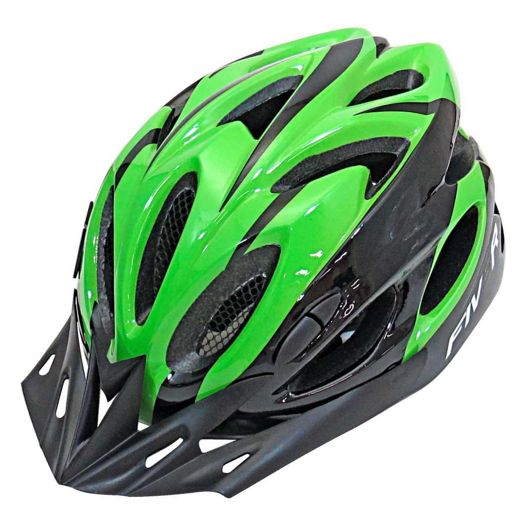 Capacete P/Ciclista FIVR Verde/Preto Led