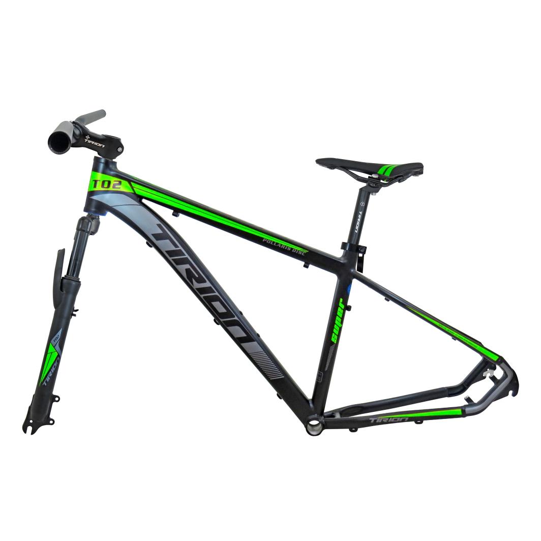 Quadro 29 Aluminio+Peças17 Preto Fosco C/Neon Verde