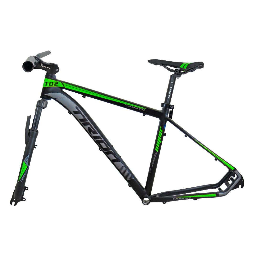 Quadro 29 Aluminio+Peças19 Preto Fosco C/Neon Verde